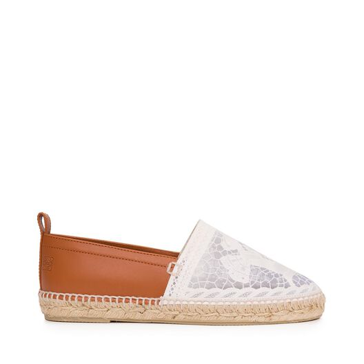Espadrille Broderie Anglaise