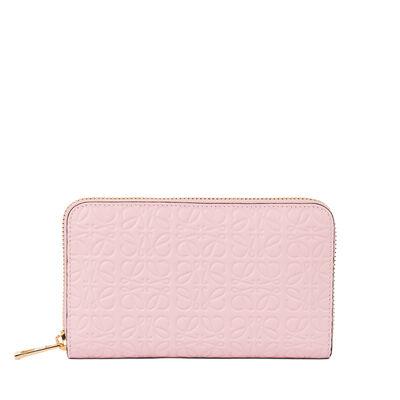 LOEWE Medium Zip Around Soft Pink front