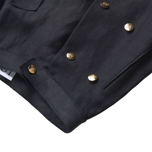 LOEWE Gold Button Skirt Black all