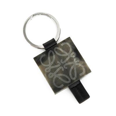 LOEWE Anagram Plaque/Strap Keyring Smoke Grey front