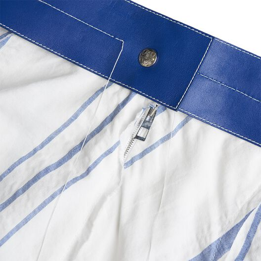 LOEWE Skirt W/ Leather Waistband Off-White/Blue all