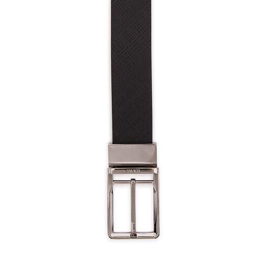 LOEWE Formal Belt 3.2Cm Adj/Rev Black/Ruthenium all