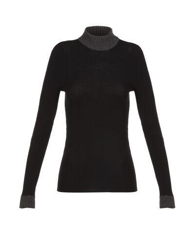 LOEWE 2Nd Skin Turtleneck Sweater Black/Dark Grey front