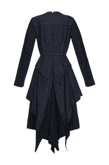 LOEWE Dress Contrast Stitching Black all
