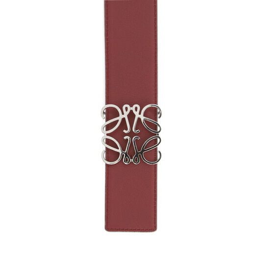 LOEWE Anagram Belt 4Cm Grey/Brick Red/Palladium all