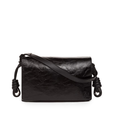 LOEWE Flamenco Flap Bag Black front
