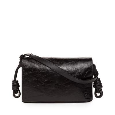 LOEWE Flamenco Flap Bag Black front