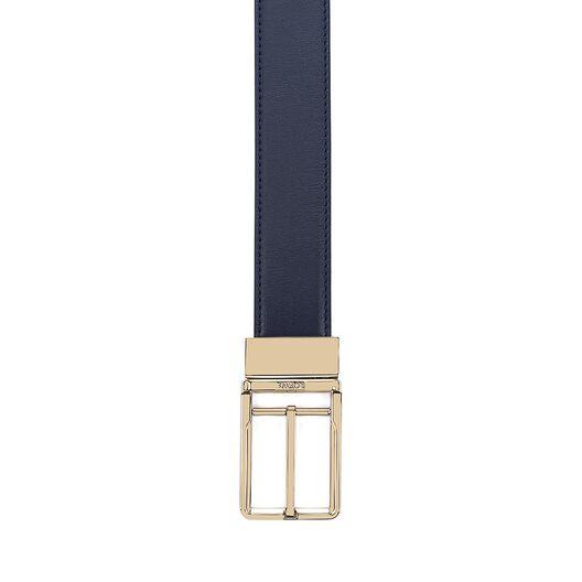 LOEWE Cinturon  Formal 3.2Cm Adj/Rev Marino/Negro/Oro all