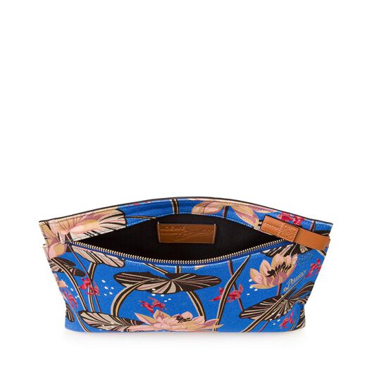 LOEWE Paulas Ibiza T Pouch Flowers Blue Ink all