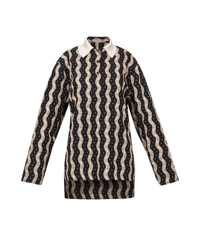 Printed Poloneck Top