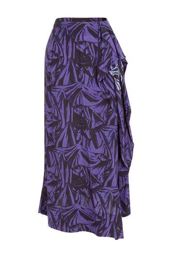 LOEWE Printed Skirt Black/Purple all