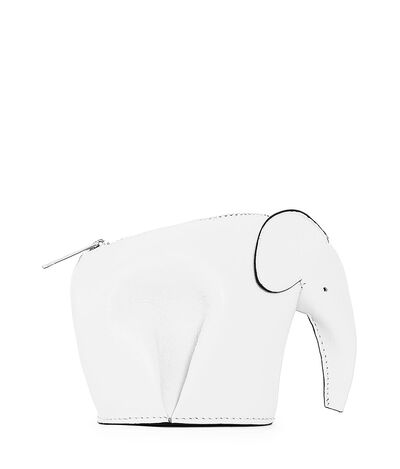 LOEWE Elephant Coin Purse Soft White front