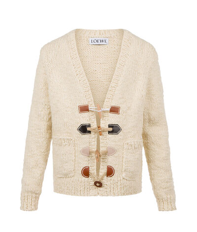 LOEWE Cardigan Toggles Off-White front