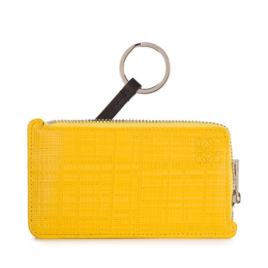 LOEWE Key/Coin Holder Anagram Yellow all