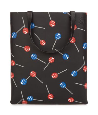 LOEWE Vertical Tote Lollipops Bag Black front