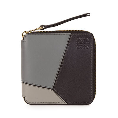 LOEWE Puzzle Small Wallet Grey Multitone front