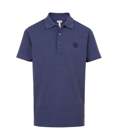 LOEWE Short Sleeve Anagram Polo Washed Cobalt front