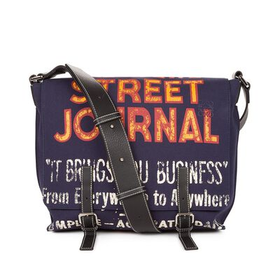 LOEWE Milit Messeng St Journal S Bag Navy Blue front