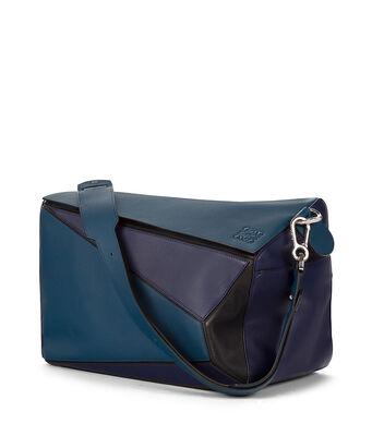 LOEWE Puzzle Xl Bag Indigo/Marine/Black front