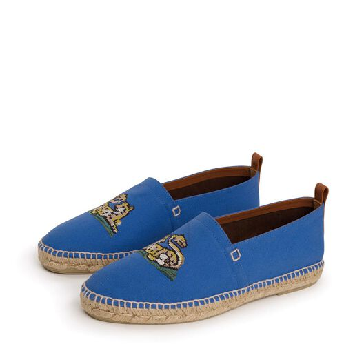 LOEWE Espadrille Animals Embroidery Blue/Multicolour all