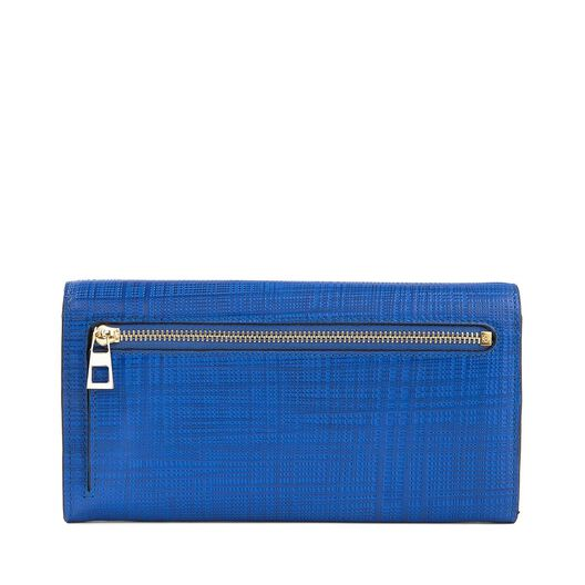 LOEWE Continental Wallet Electric Blue all