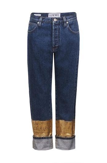 Golden Hem Jeans