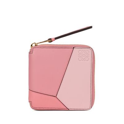 LOEWE Puzzle Small Wallet Soft Pink/Candy/Dark Pink front