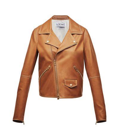 LOEWE Biker Jacket Tan front