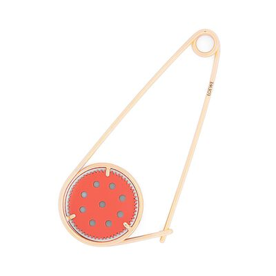 LOEWE Meccano Pin Orange/Gold front
