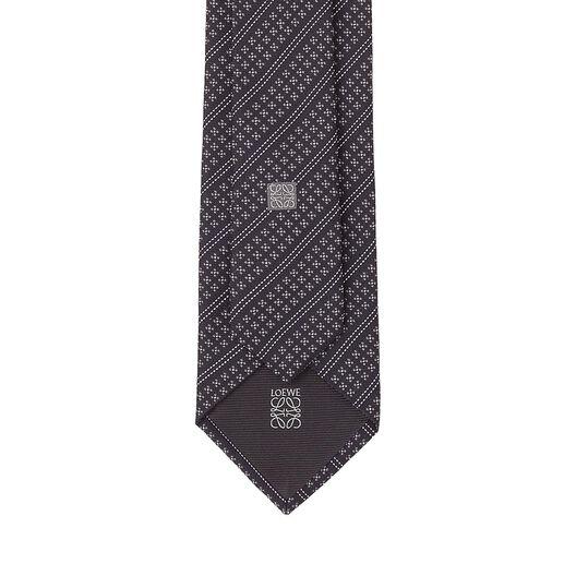 LOEWE 7Cm Three Diagonal Dots Tie Grey all