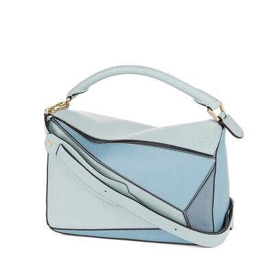 LOEWE Puzzle Bag Aqua/Light Blue/Stone Blue front