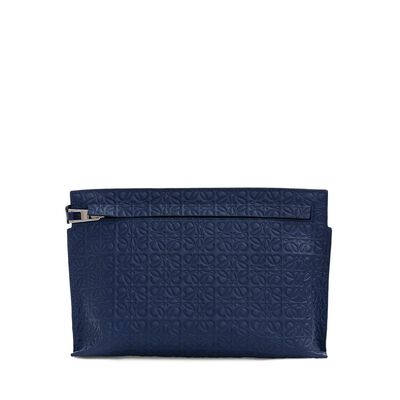LOEWE Medium T Pouch Navy Blue front