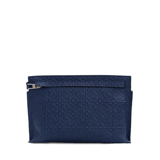 LOEWE Medium T Pouch Navy Blue all