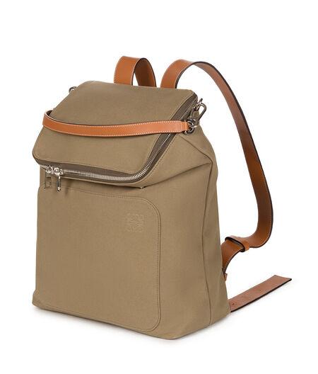 LOEWE Goya Backpack Khaki Green all