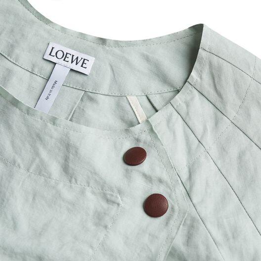LOEWE Jacket Cut Away Pleated Slv Sage Green all