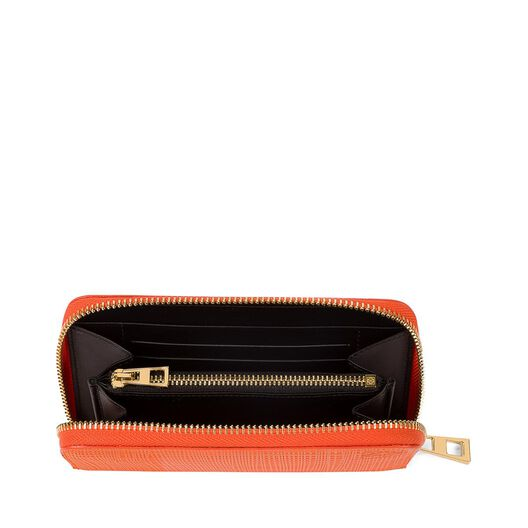 LOEWE Medium Zip Around Orange all