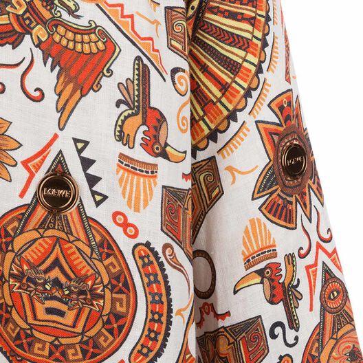 Asymmetric Shirt Inca Print