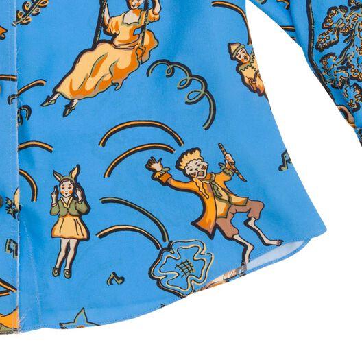 LOEWE Blouse Paula Light Blue/Multicolor all