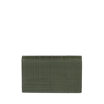 LOEWE Business Card Holder Khaki Green front