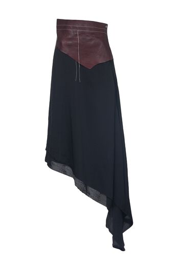 Asym Skirt Leather Waist