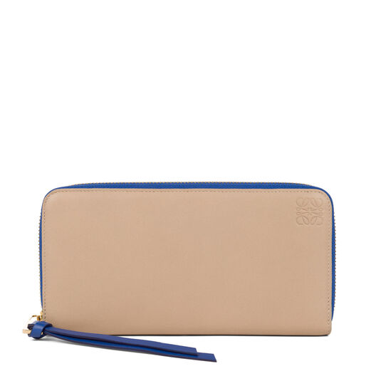LOEWE Zip Around Wallet Sand/Electric Blue all