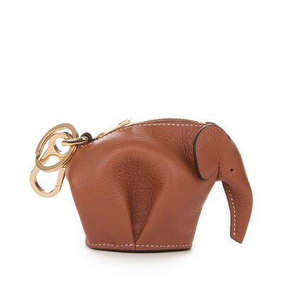 LOEWE Elephant Charm Tan/White front