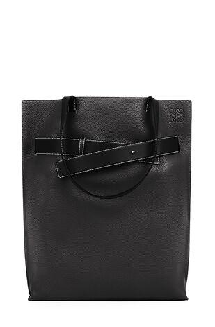 LOEWE Vertical Belt Tote Bag Black front