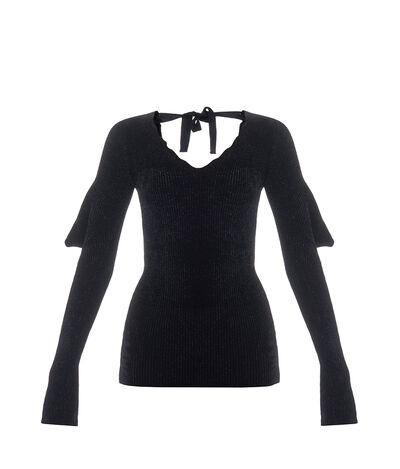 LOEWE V-Neck Sweater Black front