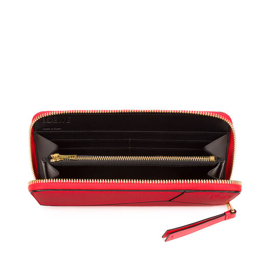 LOEWE Puzzle Zip Around Wallet Red all