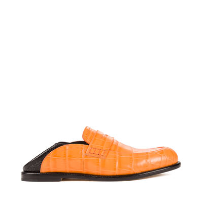 LOEWE Slip On Loafer orange/black front