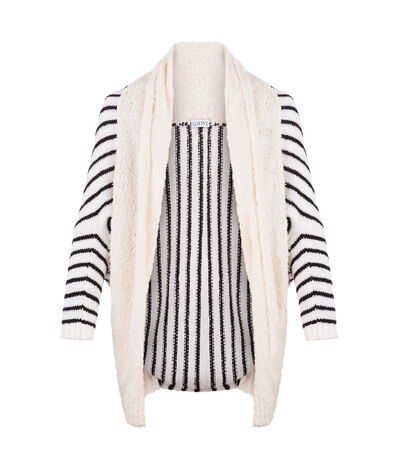 LOEWE Cardigan Stripes White/Black front