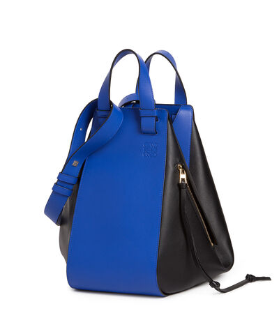 LOEWE Hammock Bag Electric Blue/Black front