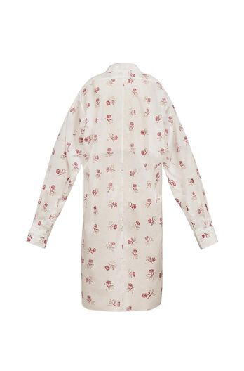 Flowers Print Asymetric Shirt