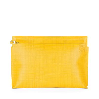 LOEWE T Pouch Yellow front